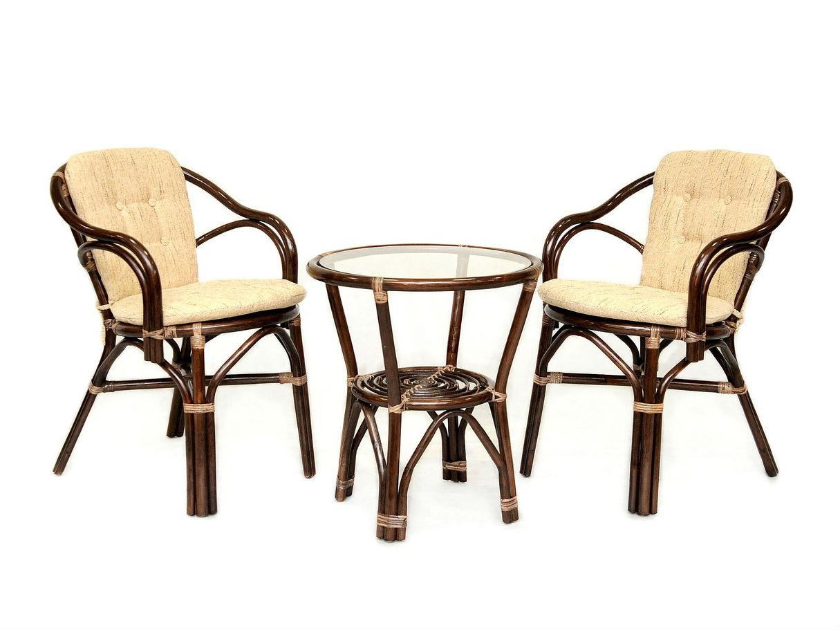 Комплект кофейный «Patio»Комплекты уличной мебели<br>Кофейный комплект Patio для двоих.  Замечательный комплект плетеной мебели из ротанга впишется в любой интерьер.&amp;lt;div&amp;gt;&amp;lt;br&amp;gt;&amp;lt;/div&amp;gt;&amp;lt;div&amp;gt;Комплектация: два кресла, мягкие подушки (на спинку и сидение), столик со стеклом (вставляется в паз)&amp;lt;/div&amp;gt;&amp;lt;div&amp;gt;Материал каркаса:  натуральный ротанг&amp;lt;/div&amp;gt;&amp;lt;div&amp;gt;Мягкая обивка/подушка:  ткань рогожка&amp;lt;/div&amp;gt;&amp;lt;div&amp;gt;Размеры: Столик со стеклом 55х60х55 см, кресло 78х56х60 см&amp;lt;/div&amp;gt;&amp;lt;div&amp;gt;Выдерживаемая нагрузка, кг:  90&amp;lt;/div&amp;gt;<br><br>Material: Ротанг<br>Width см: 56<br>Depth см: 60<br>Height см: 78