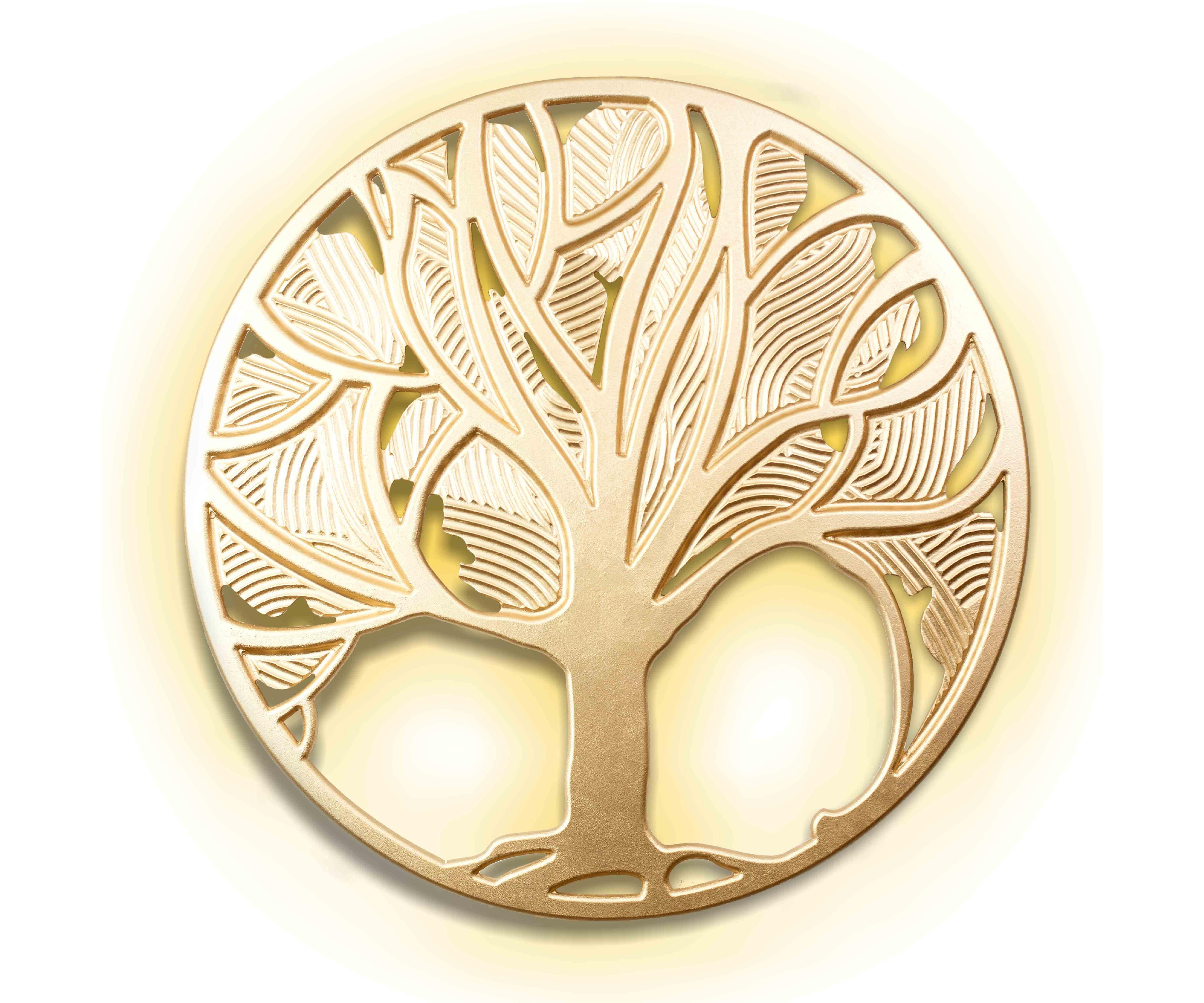 Панно Древо жизни FelicityПанно<br>&amp;lt;span style=&amp;quot;line-height: 24.9999px;&amp;quot;&amp;gt;Это эксклюзивное панно ручной работы вырезано из древесины ценных пород и покрыто золотой краской. Встроенная подсветка из 4 светодиодных лампочек создает вокруг &amp;quot;древа жизни&amp;quot; мягкое уютное свечение. Таким образом, панно можно использовать не только как настенное украшение, но и как дополнительный источник точечного освещения. Вес изделия - 7 кг.&amp;lt;/span&amp;gt;<br><br>Material: Дерево<br>Length см: None<br>Width см: None<br>Depth см: 0,8<br>Height см: None<br>Diameter см: 90