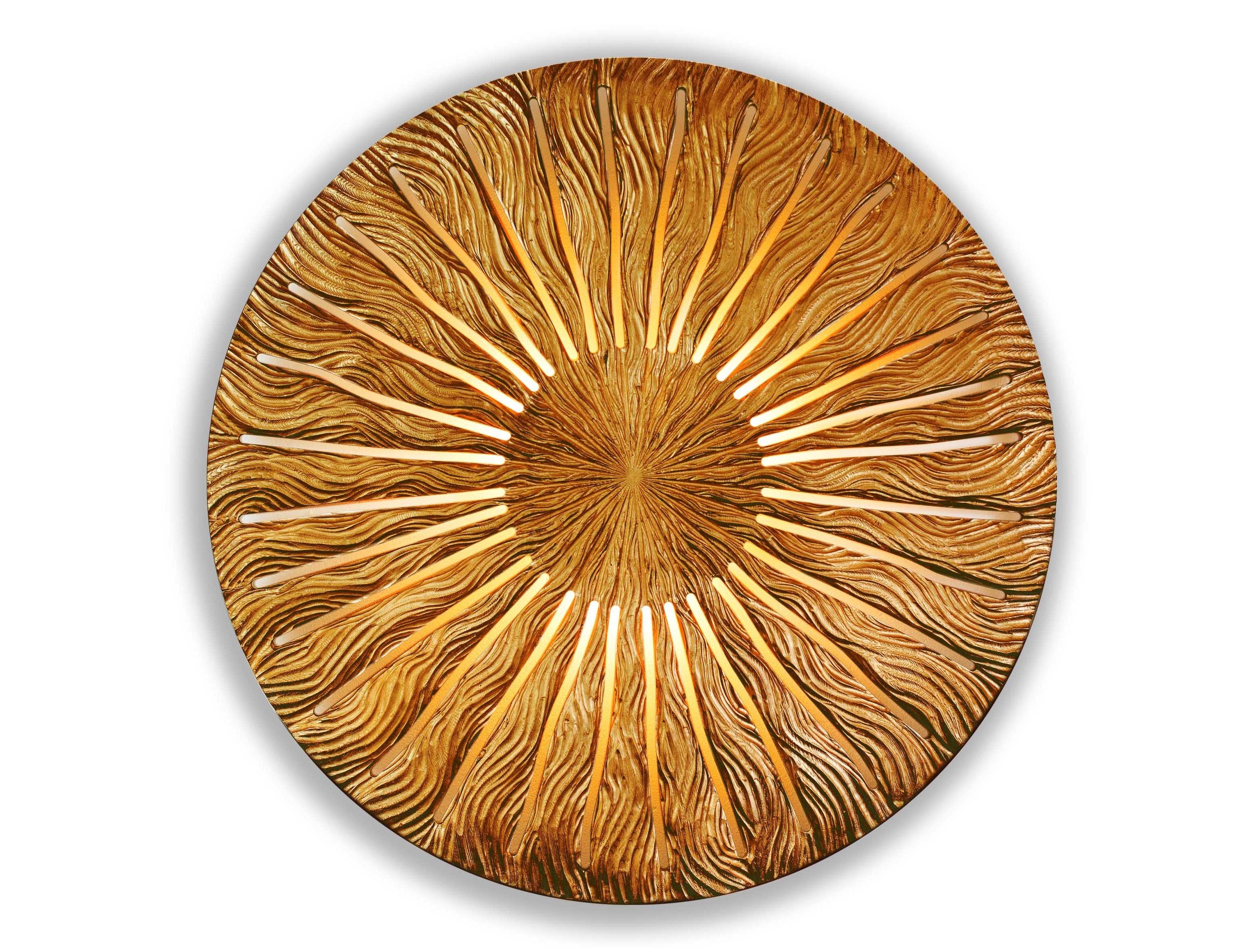 Ночник IncipientПанно<br>&amp;lt;span style=&amp;quot;line-height: 24.9999px;&amp;quot;&amp;gt;Эффектный ночник, он же – настенное панно в форме солнечного диска – нетривиальное украшение для спальни, гостиной, коридора или кабинета. «Светило» изготовлено из ценных сортов древесины, каждая прожилка сложного рисунка выточена вручную. Для подсветки используются 4 энергосберегающие светодиодные лампы. Размер изделия составляет 990х990 мм, толщина – 7см, вес – 7 кг.&amp;lt;/span&amp;gt;<br><br>Material: Дерево<br>Width см: None<br>Depth см: 0,8<br>Height см: None<br>Diameter см: 90