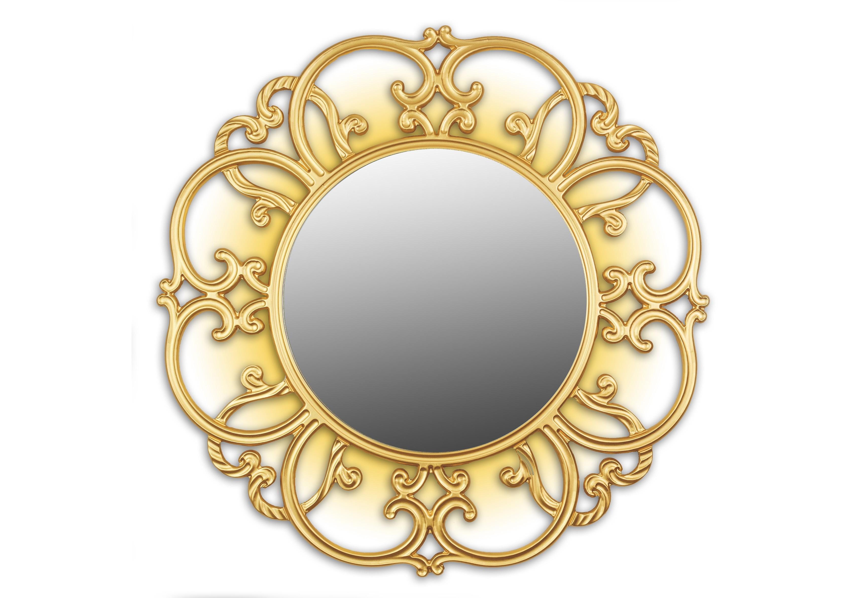 Зеркало TiffanyНастенные зеркала<br>&amp;lt;span style=&amp;quot;line-height: 24.9999px;&amp;quot;&amp;gt;Это круглое зеркало вставлено в эффектный резной багет, выточенный вручную из цельной древесины ценных пород и покрытый золотой краской. Зеркальная поверхность подсвечивается 4 светодиодными энергосберегающими лампами, установленными внутри корпуса. Таким образом, зеркало выполняет еще и функцию ночника. Размер изделия составляет 990х990 мм, толщина – 7см, вес – 7 кг.&amp;lt;/span&amp;gt;<br><br>Material: Дерево<br>Width см: 99<br>Depth см: 7<br>Height см: 99