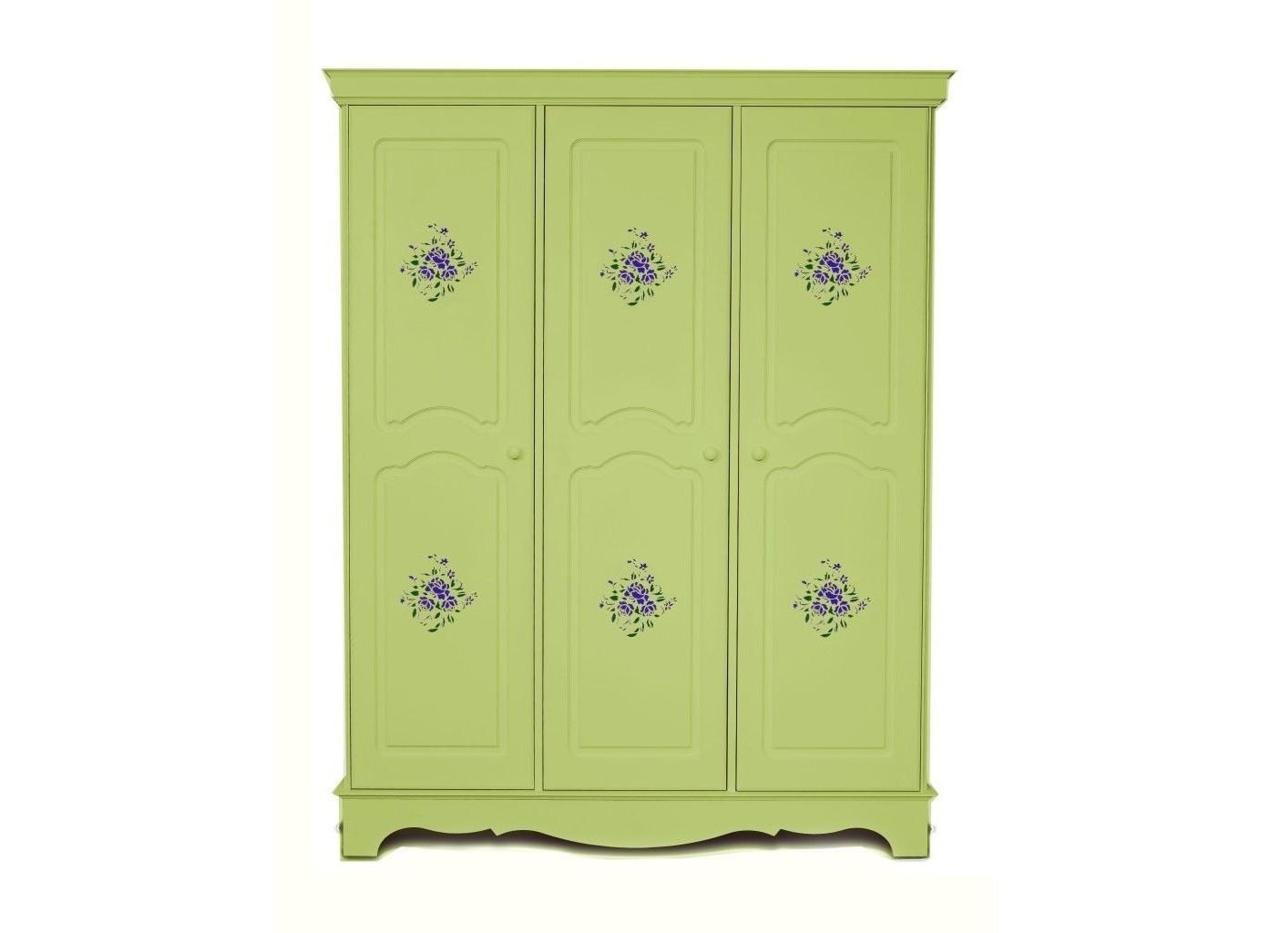 Шкаф трехстворчатый Belle Fleur OliveПлатяные шкафы<br>Стильный шкаф Belle Fleur Olive. Belle Fleur Olive наполнит свежестью вашу спальню и  станет замечательным акцентом интерьера.&amp;amp;nbsp;<br><br>Material: Дерево<br>Width см: 160<br>Depth см: 60<br>Height см: 206
