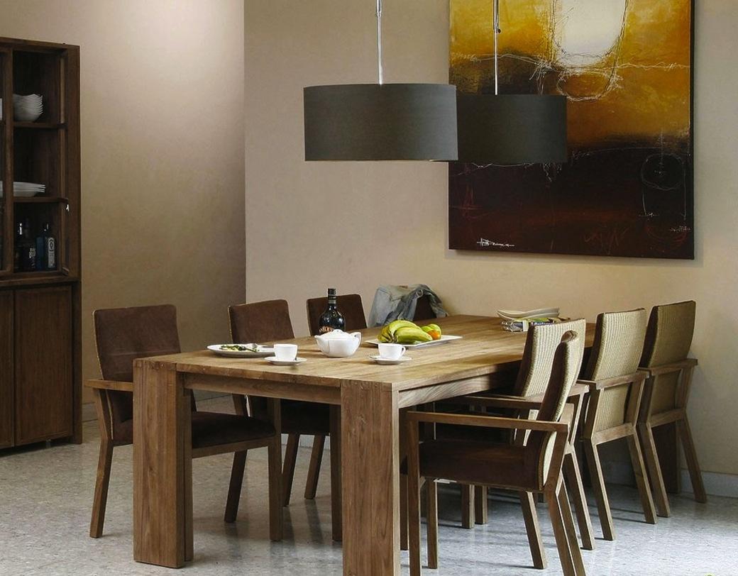 Стол обеденный  Fiss 160Обеденные столы<br>Крупный обеденный стол в эко-стиле словно склеен из двух столов разного размера, создавая объемный вид предмета. Натуральное дерево с сохранением фактурных естественных узоров напоминает о семейных традициях.<br><br>Material: Тик<br>Length см: 160.0<br>Width см: 90.0<br>Depth см: None<br>Height см: 78.0<br>Diameter см: None