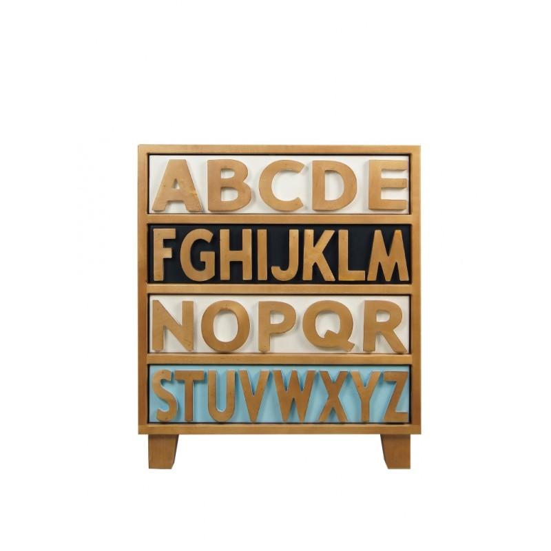 Комод Alphabeto BirchБельевые комоды<br>Материал: массив березы<br><br>Material: Береза<br>Width см: 60<br>Depth см: 35<br>Height см: 70