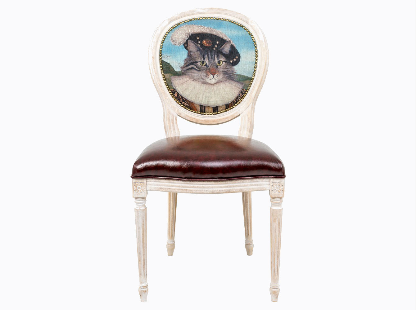 Стул «Музейный экспонат», версия 33Обеденные стулья<br>Стул &amp;quot;Музейный экспонат&amp;quot; - универсальное, но отборное решение гостиной и детской комнат, столовой, холла, кабинета и спальни. <br>Приобретая такую модель, можно быть уверенными в её эклектическом единстве с роскошным &amp;quot;ренессансом&amp;quot; и изнеженным &amp;quot;ампиром&amp;quot;, аскетичным &amp;quot;лофтом&amp;quot; и салонным &amp;quot;ар-деко&amp;quot;.<br>Корпус стула изготовлен из натурального бука. Среди европейских пород бук считается самым прочным и долговечным материалом. По эксклюзивному дизайну &amp;quot;Объекта мечты&amp;quot; корпусы стульев серии &amp;quot;Музейный экспонат&amp;quot; выточены, брашированы и патинированы в Италии. <br>В дизайне &amp;quot;Музейный экспонат&amp;quot; резьба играет ведущую роль: стул украшен вычурными желобками и цветочными узорами, выточенными с ювелирной меткостью. <br>Комфортабельность, прочность и долговечность сиденья обеспечены подвеской из эластичных ремней.  Обивка оснащена тефлоновым покрытием против пятен. <br>Мебель от &amp;quot;Объекта мечты&amp;quot; - дизайнерский раритет Вашего интерьера.<br>&amp;lt;div&amp;gt;&amp;lt;br&amp;gt;&amp;lt;/div&amp;gt;&amp;lt;div&amp;gt;Каркас - натуральное дерево бука, обивка сиденья и оборотной стороны спинки - эко-кожа, обивка спинки: 29% лен, 9 % хлопок, 72% полиэстер&amp;lt;br&amp;gt;&amp;lt;/div&amp;gt;<br><br>Material: Дерево<br>Ширина см: 55<br>Высота см: 95<br>Глубина см: 50