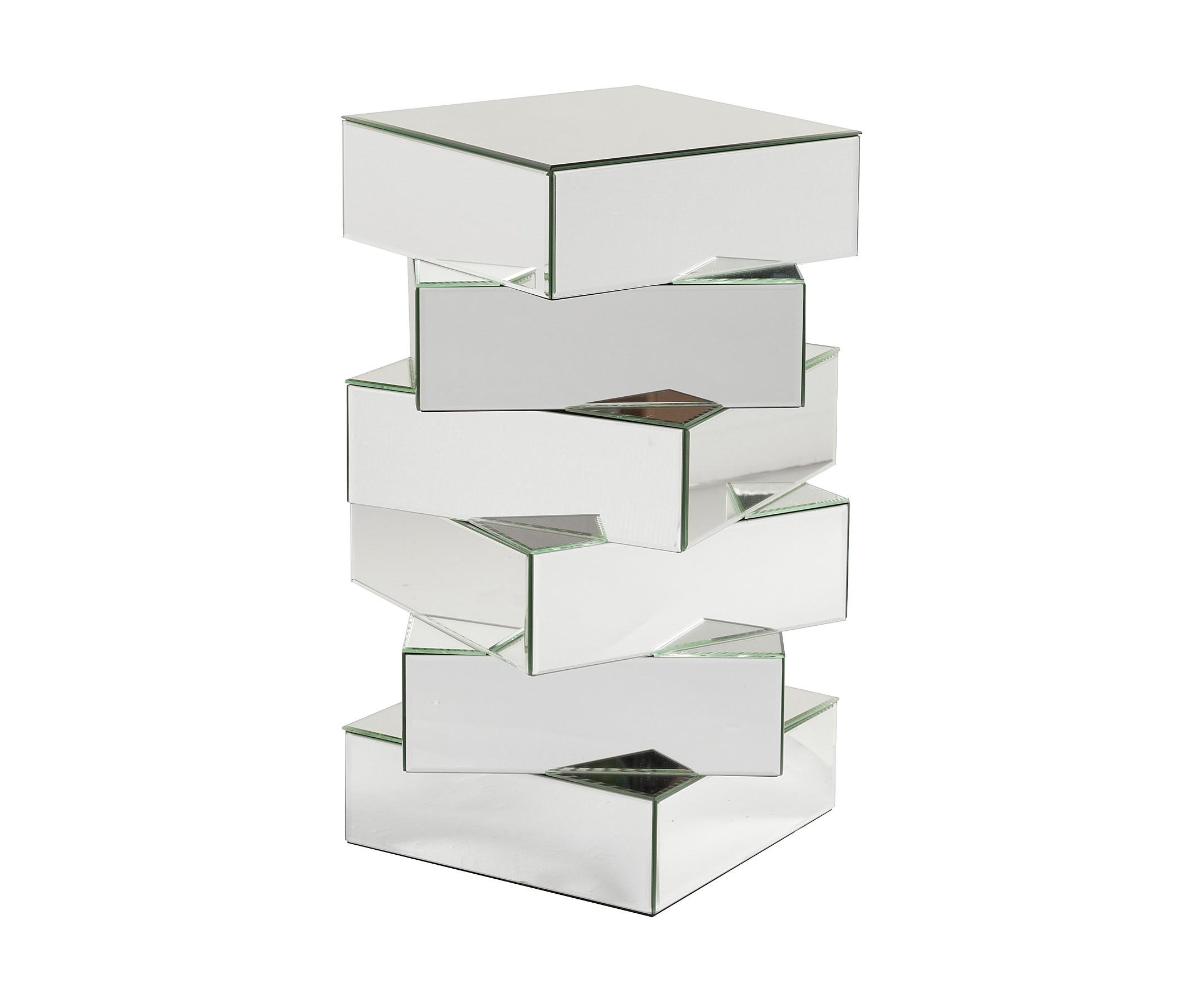 Зеркальный кофейный столик BeziersКофейные столики<br><br><br>Material: Стекло<br>Width см: 43<br>Depth см: 43<br>Height см: 61