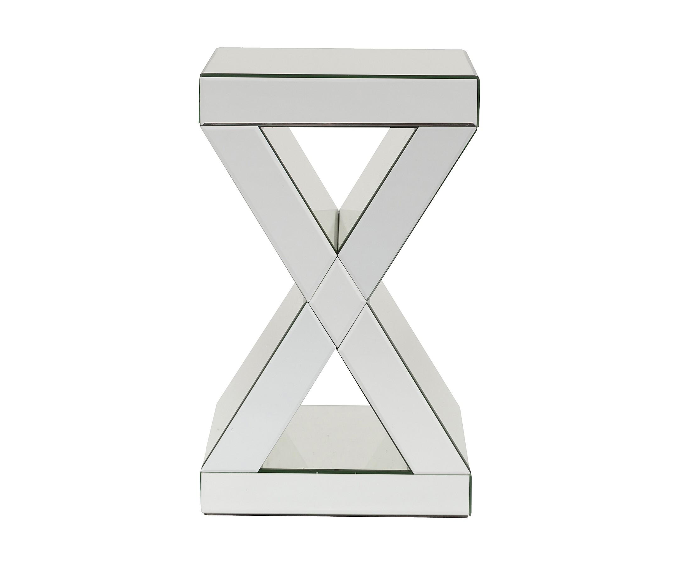 Зеркальный кофейный столик DunkerkeКофейные столики<br><br><br>Material: Стекло<br>Width см: 31<br>Depth см: 31<br>Height см: 51