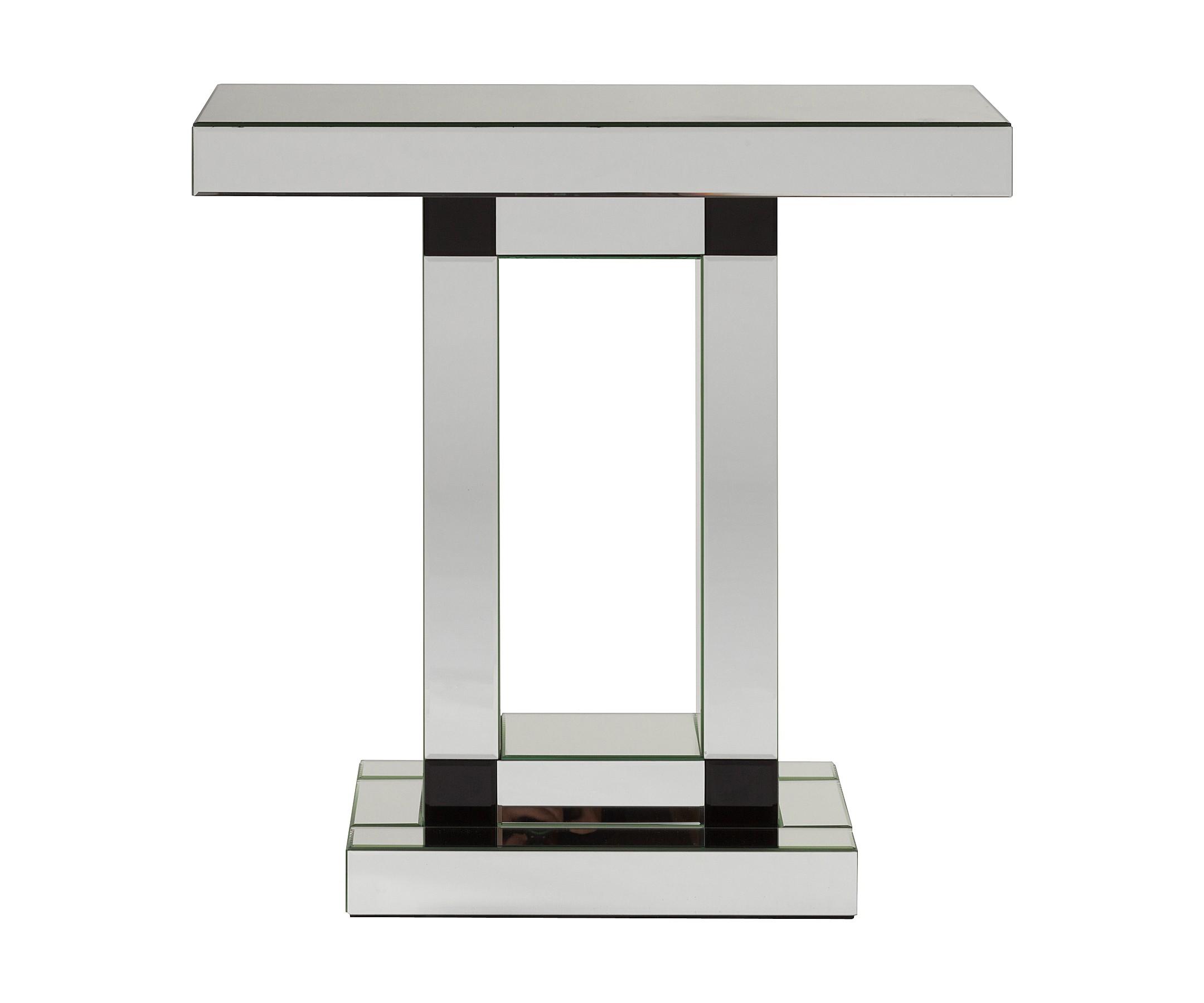 Зеркальный консольный столик PoitiersИнтерьерные консоли<br><br><br>Material: Стекло<br>Width см: 81<br>Depth см: 30.5<br>Height см: 80