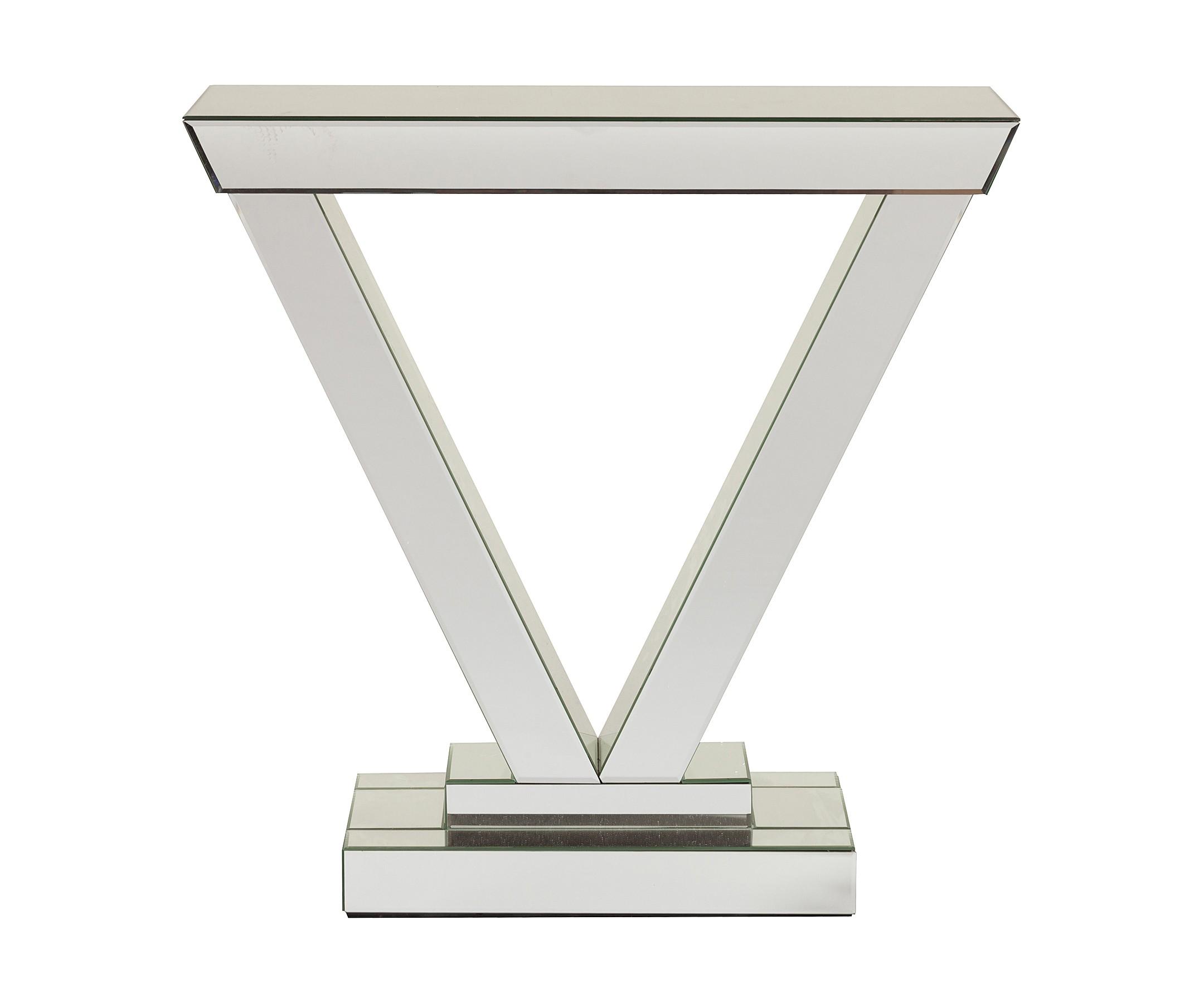 Зеркальный консольный столик AvignonИнтерьерные консоли<br><br><br>Material: Стекло<br>Width см: 80<br>Depth см: 30,5<br>Height см: 80