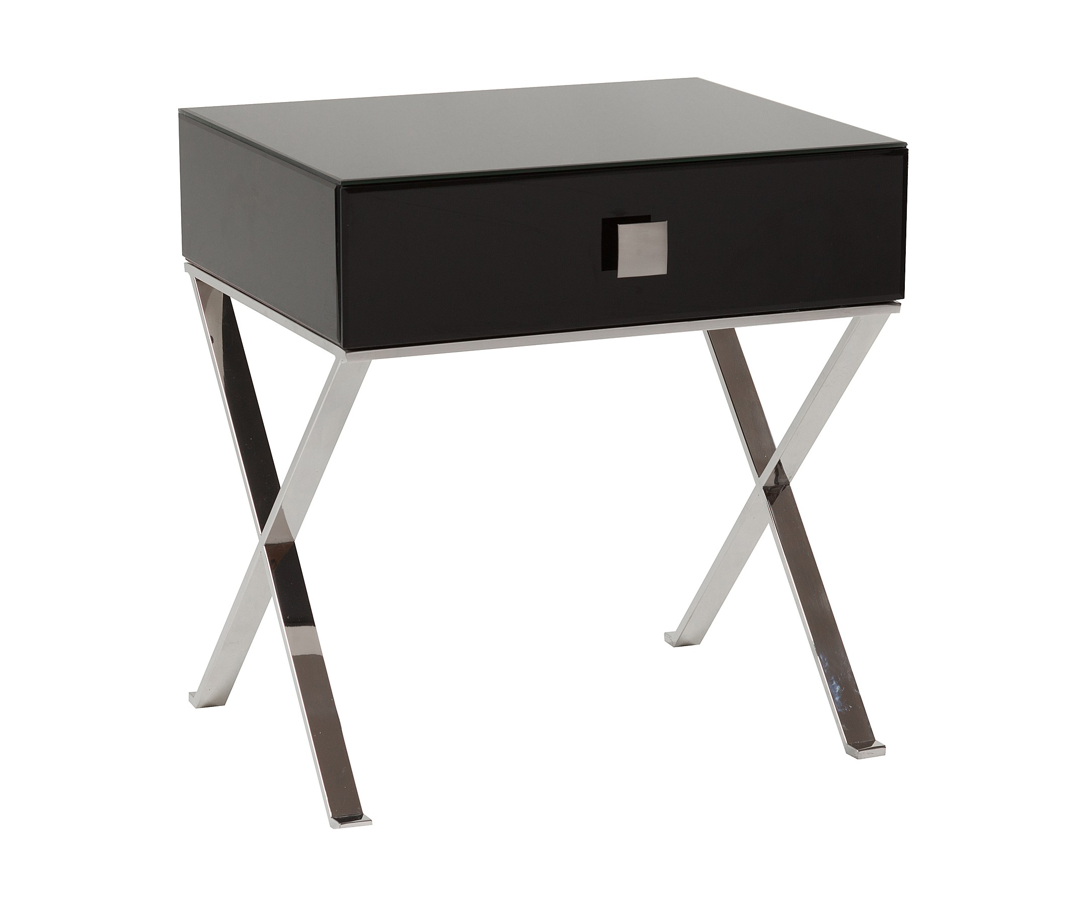 Придиванный столик с ящиком VersalesПриставные столики<br>Придиванный столик Versales выполнен в классическом стиле, имеет прямоугольную форму с выдвижным ящиком, сделан из высококачественного МДФ на металлических хромированных ножках. Органично впишется в любое пространство, обустроенное со вкусом, его внешность подойдет как к классическим интерьерам, так и к более свободным стилям в дизайне. Придиванный столик с ящиком Versales непременно будет радовать глаз, а широкая поверхность и выдвижной ящик позаботятся обо всем, что хочется держать под рукой. Можно поставить чашечку кофе и положить пульт телевизора. Увлекательная книга, личный дневник и другие любимые мелочи тоже теперь всегда будут под рукой. Купите придиванный столик с ящиком Versales — красота должна доставлять не только эстетическое удовольствие, но и приносить практическую пользу.&amp;lt;div&amp;gt;&amp;lt;br&amp;gt;&amp;lt;/div&amp;gt;&amp;lt;div&amp;gt;Материал ножек: металл.&amp;lt;/div&amp;gt;<br><br>Material: МДФ<br>Width см: 52<br>Depth см: 42<br>Height см: 56