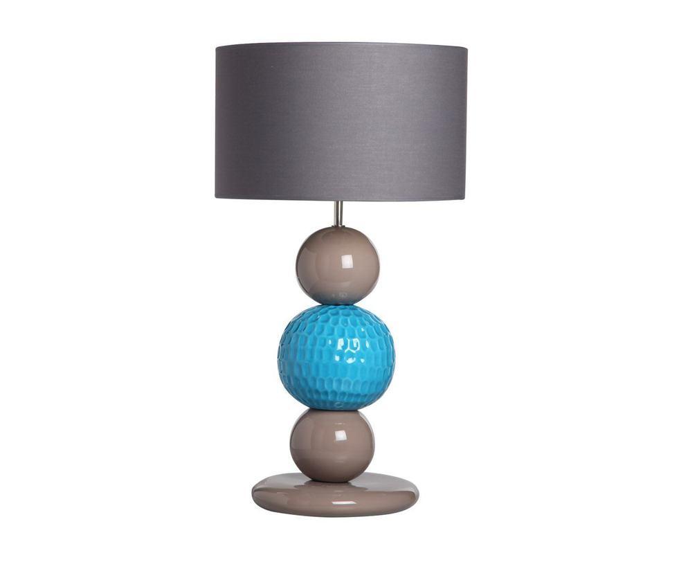 Настольная  лампаДекоративные лампы<br>Настольная лампа представляет собой выдержанную гармоничную композицию: 3 шара в основании покоятся друг на друге, они напоминают бусины, причудливо увеличенные. Основание уравновешено широким абажуром. Лампа идеально впишется в современный интерьер, привнеся нотку индивидуализма.&amp;lt;div&amp;gt;&amp;lt;br&amp;gt;&amp;lt;/div&amp;gt;&amp;lt;div&amp;gt;&amp;lt;div&amp;gt;Вид цоколя: E27&amp;lt;/div&amp;gt;&amp;lt;div&amp;gt;Мощность: 60W&amp;lt;/div&amp;gt;&amp;lt;div&amp;gt;Количество ламп: 1&amp;lt;/div&amp;gt;&amp;lt;/div&amp;gt;<br><br>Material: Керамика<br>Height см: 64<br>Diameter см: 35
