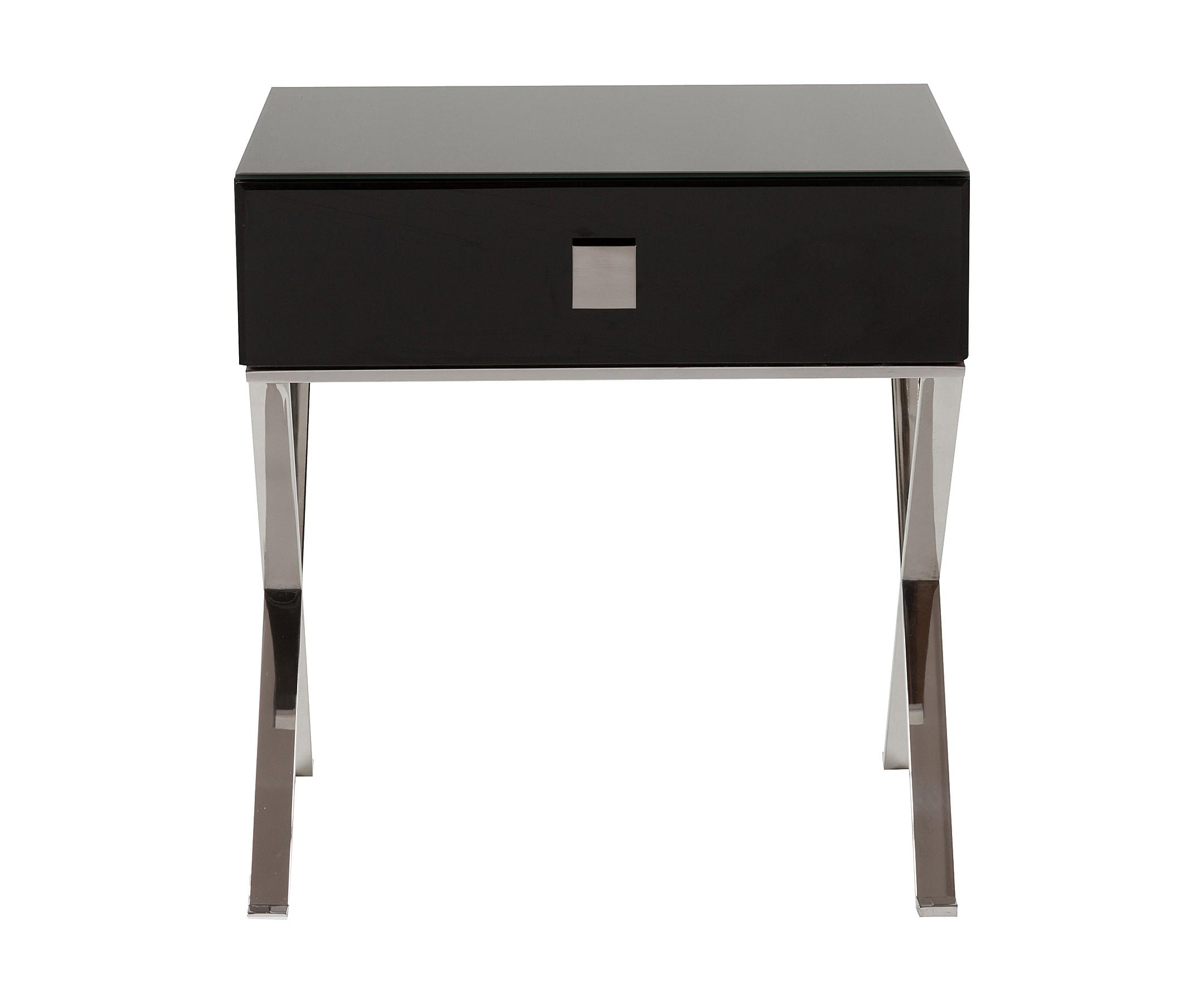 Придиванный столик с ящиком VersalesПриставные столики<br>Придиванный столик Versales выполнен в классическом стиле, имеет прямоугольную форму с выдвижным ящиком, сделан из высококачественного МДФ на металлических хромированных ножках. Органично впишется в любое пространство, обустроенное со вкусом, его внешность подойдет как к классическим интерьерам, так и к более свободным стилям в дизайне. Придиванный столик с ящиком Versales непременно будет радовать глаз, а широкая поверхность и выдвижной ящик позаботятся обо всем, что хочется держать под рукой. Можно поставить чашечку кофе и положить пульт телевизора. Увлекательная книга, личный дневник и другие любимые мелочи тоже теперь всегда будут под рукой. Купите придиванный столик с ящиком Versales — красота должна доставлять не только эстетическое удовольствие, но и приносить практическую пользу.&amp;lt;div&amp;gt;&amp;lt;br&amp;gt;&amp;lt;/div&amp;gt;&amp;lt;div&amp;gt;Материал ножек: металл.&amp;lt;/div&amp;gt;<br><br>Material: МДФ<br>Ширина см: 52<br>Высота см: 56<br>Глубина см: 42