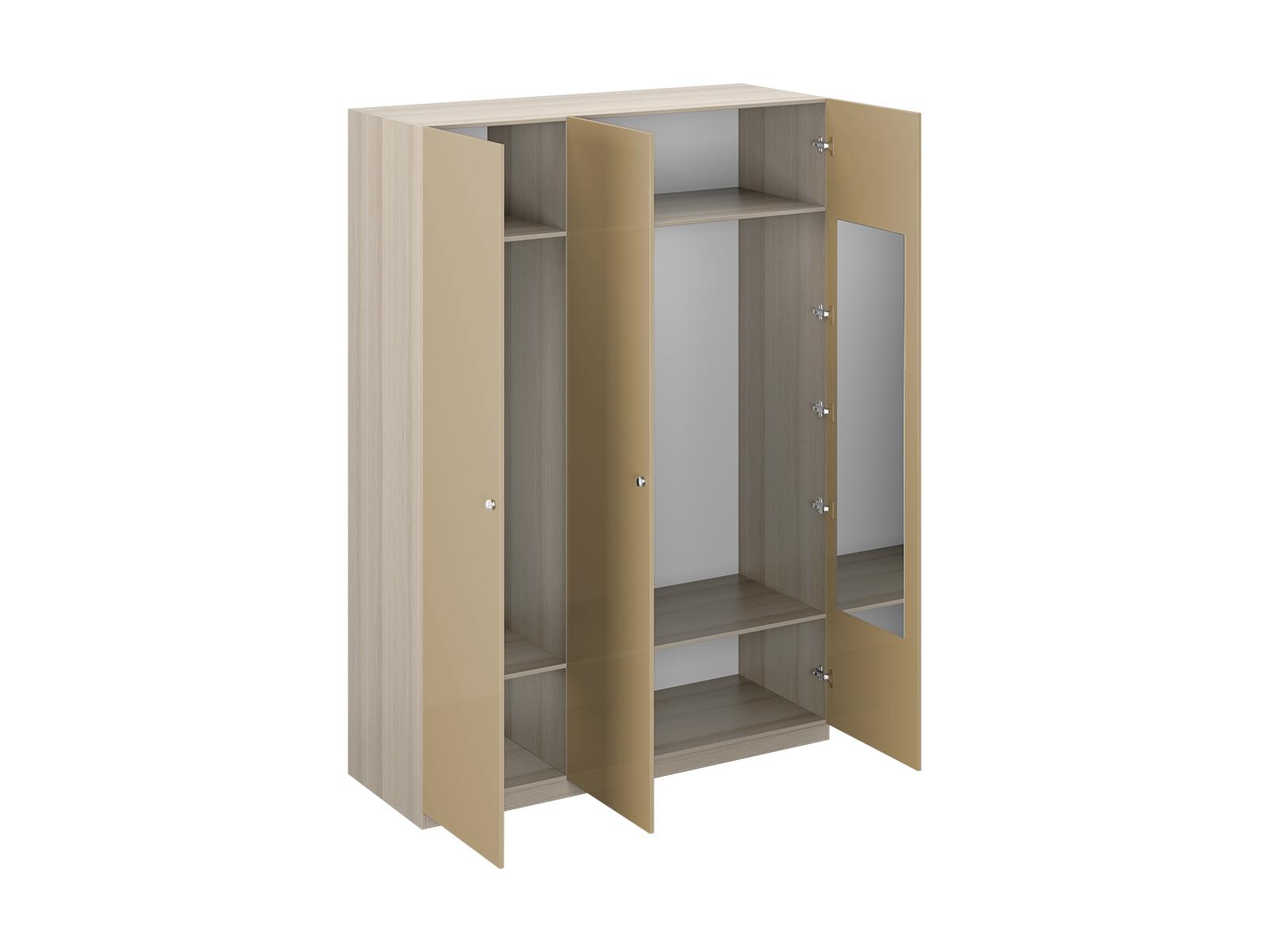 Шкаф Uno Ш3зПлатяные шкафы<br>Шкаф трёхдверный имеет два отделения. Правое отделение всегда широкое, левое – узкое. В отделениях расположены две стационарные верхние и две съемные нижние полки. На одной дверце шкафа с внутренней стороны расположено зеркало. Шкаф установлен на регулируемые опоры. Данную мебель рекомендуется крепить к стене. Ручки и внутренние элементы продаются отдельно.<br><br>Material: ДСП<br>Width см: 165<br>Depth см: 60<br>Height см: 233
