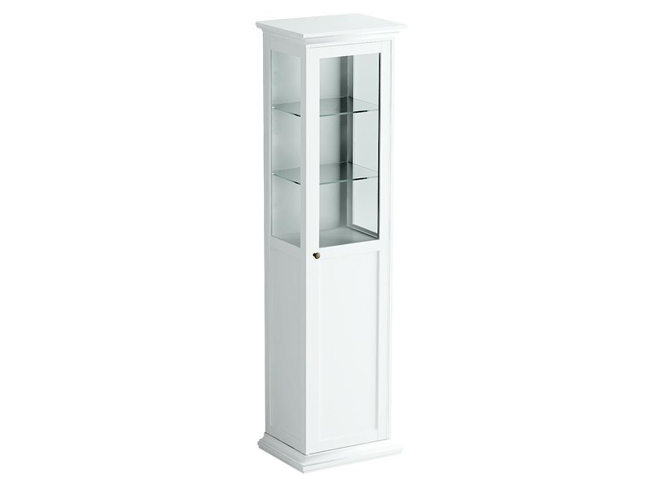 Шкаф-витрина однодверный ReinaВитрины<br>Кого из нас не манили яркие витрины магазинов? Разместите в этом шкафу дорогие вашему сердцу вещи. В отблесках света, отражающихся от стеклянных дверок, их красота будет еще заметнее.&amp;amp;nbsp;<br><br>Material: ДСП<br>Ширина см: 56<br>Высота см: 201<br>Глубина см: 42