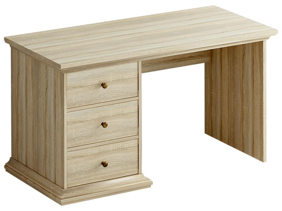 Стол ReinaПисьменные столы<br>Вы можете быть кем угодно: гениальным ученым, талантливым писателем или потрясающим художником... В любом случае, для каждого из ваших начинаний просто необходим удобный и практичный письменный стол. Лаконичный дизайн не будет отвлекать вас от самого главного, а в выдвижных ящиках уместится все необходимое: от рукописей до маленькой домашней лаборатории.&amp;amp;nbsp;&amp;lt;br&amp;gt;<br><br>Material: ДСП<br>Ширина см: 131<br>Высота см: 75<br>Глубина см: 62
