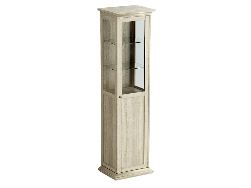 Шкаф-витрина однодверный ReinaВитрины<br>Шкаф-витрина состоит из одного отделения за распашной дверцей. Внутри расположена одна стационарная полка и четыре съёмные полки для хранения вещей.<br><br>kit: None<br>gender: None