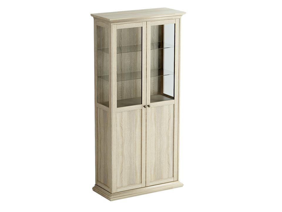Шкаф-витрина двухдверный ReinaВитрины<br>Шкаф-витрина состоит из одного отделения за двумя распашными дверцами. Внутри расположена одна стационарная и четыре съемные полки для хранения вещей.&amp;lt;br&amp;gt;&amp;lt;br&amp;gt;<br><br>Material: ДСП<br>Ширина см: 97<br>Высота см: 201<br>Глубина см: 42