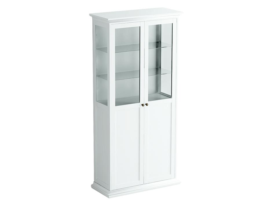 Шкаф-витрина двухдверный ReinaВитрины<br>Шкаф-витрина состоит из одного отделения за двумя распашными дверцами. Внутри расположена одна стационарная и четыре съемные полки для хранения вещей.&amp;lt;div&amp;gt;&amp;lt;br&amp;gt;&amp;lt;/div&amp;gt;<br><br>Material: ДСП<br>Width см: 97<br>Depth см: 42<br>Height см: 201