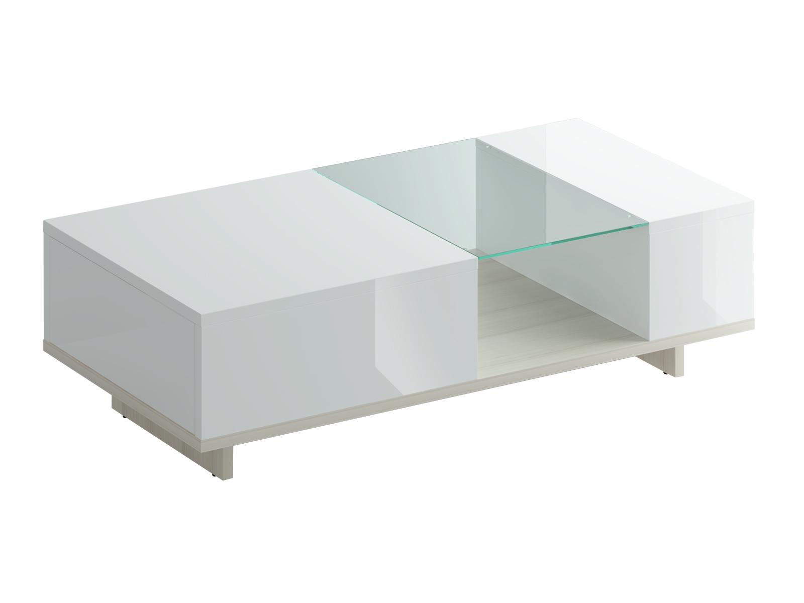 Стол журнальный LimboЖурнальные столики<br>Стол журнальный со стеклянной полкой и одним выдвижным ящиком (открывается по принципу «нажал - открыл»). Максимальная нагрузка на стеклянную полку - 8 кг. Полка покрыта противоосколочной плёнкой.<br><br>Material: ДСП<br>Width см: 125<br>Depth см: 61<br>Height см: 36