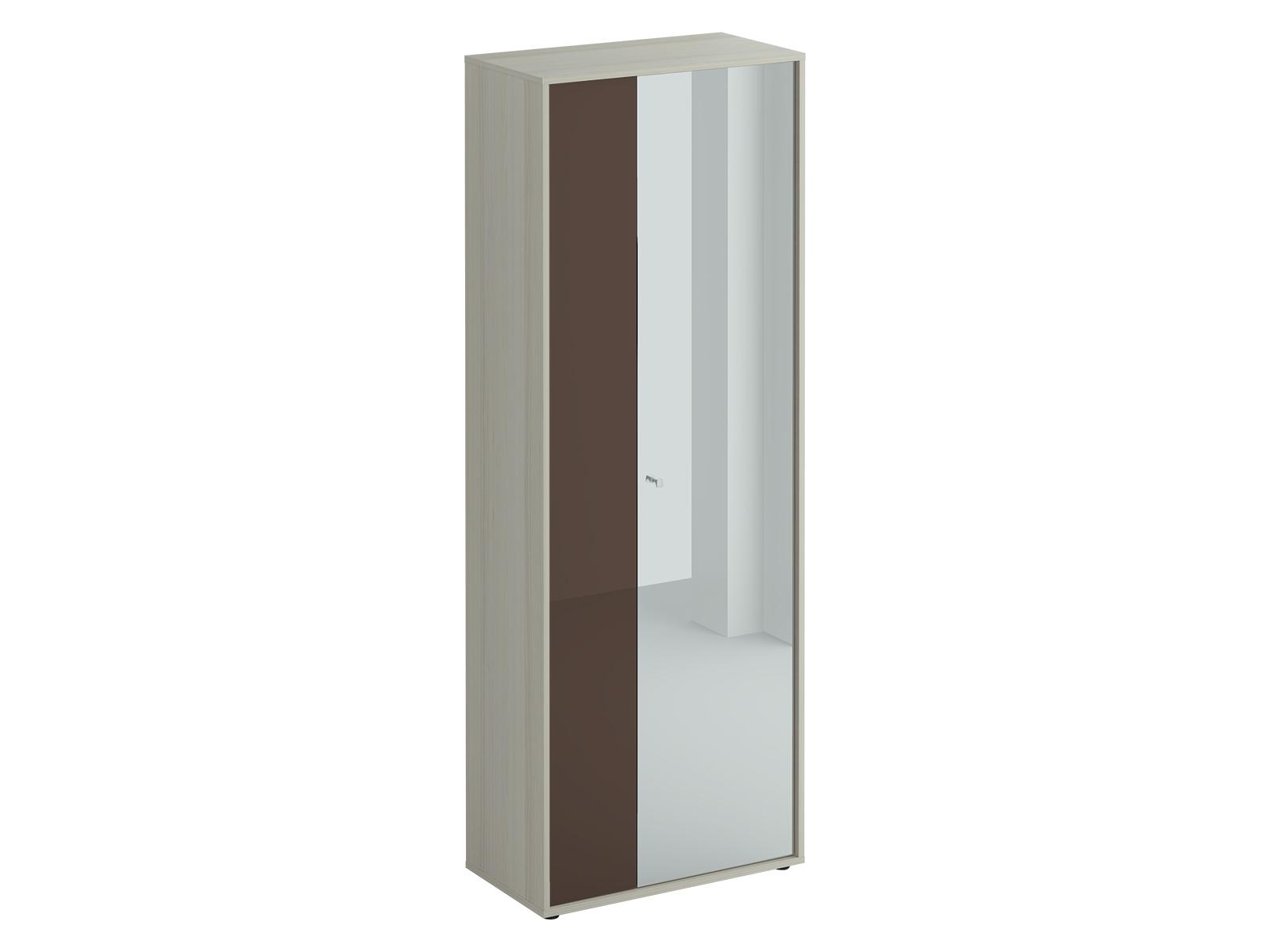 Шкаф двухдверный LatteПлатяные шкафы<br>Шкаф двухстворчатый. Наполнение шкафа: выдвижная штанга для одежды и две полки. Узкая дверь декорирована окрашенным стеклом, на широкую дверь – наклеено зеркало. Двери можно менять местами. Шкаф крепится к стене.<br><br>Material: ДСП<br>Width см: 70<br>Depth см: 37<br>Height см: 191