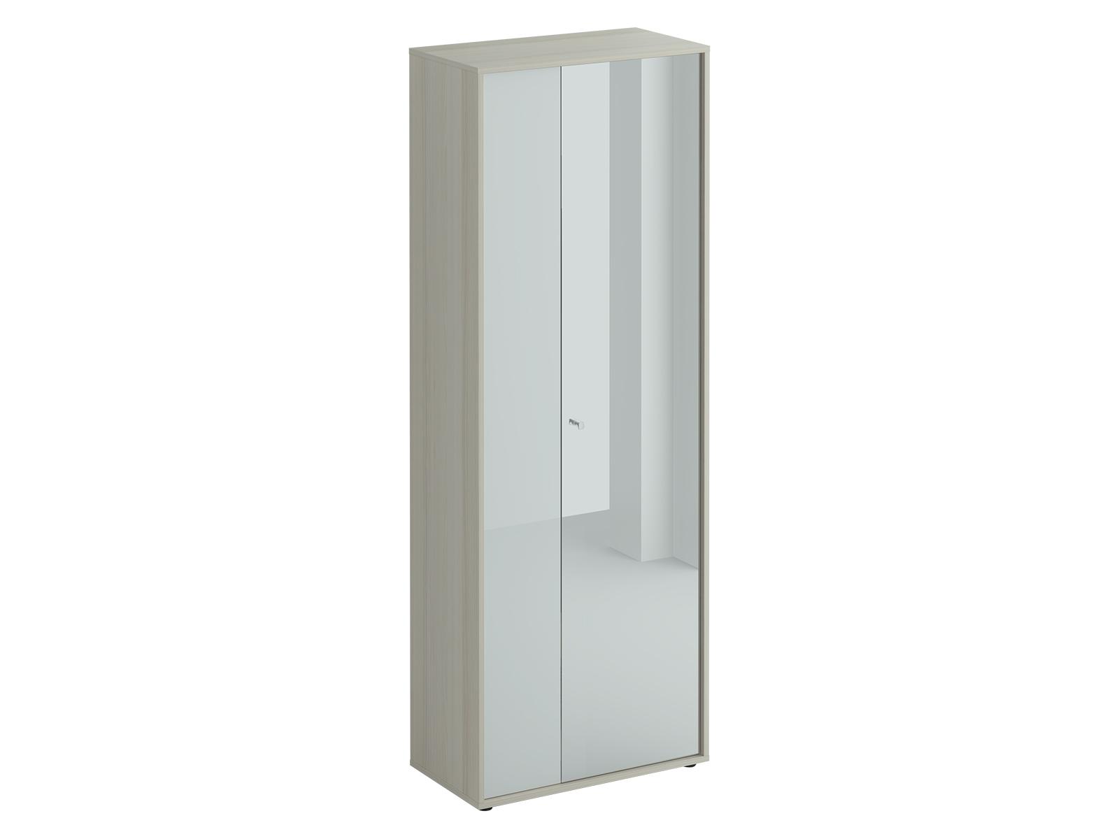 Шкаф двухдверный LatteПлатяные шкафы<br>Шкаф двухстворчатый. Наполнение шкафа: выдвижная штанга для одежды и две полки. Узкая дверь декорирована окрашенным стеклом, на широкую дверь – наклеено зеркало. Двери можно менять местами. Шкаф крепится к стене.<br><br>Material: ДСП<br>Ширина см: 70<br>Высота см: 191<br>Глубина см: 37
