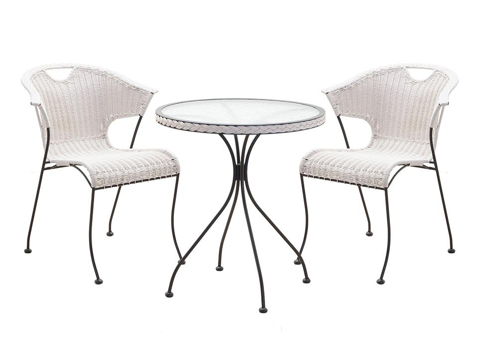 Комплект TenerifeКомплекты уличной мебели<br>В комплект входят стол для сада со стеклянной столешницей и два плетеных кресла на металлических ножках&amp;lt;div&amp;gt;Размер кресла: 60х76,5х60 см&amp;lt;br&amp;gt;Размер стола: 60х72х60 см&amp;lt;/div&amp;gt;<br><br>Material: Ротанг<br>Width см: 60<br>Depth см: 60<br>Height см: 76,5