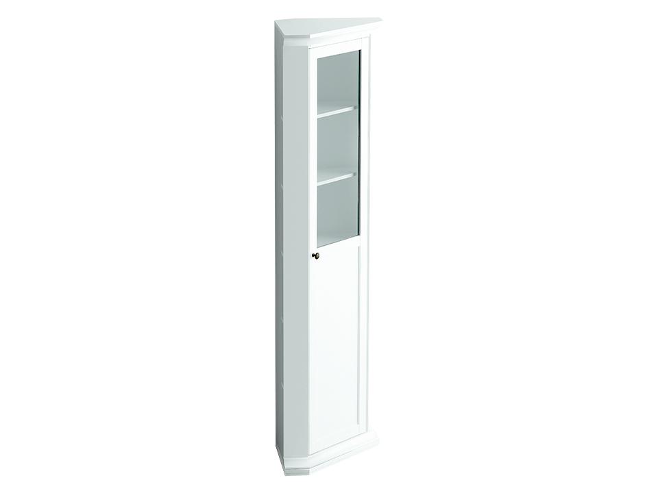 Шкаф угловой ReinaВитрины<br>Шкаф угловой состоит из одного отделения за распашной дверцей. Дверца комбинированная - верхняя часть дверцы стеклянная, нижняя - деревянная. Внутри расположена одна стационарная и четыре съёмные полки для хранения вещей.&amp;lt;div&amp;gt;&amp;lt;br&amp;gt;&amp;lt;/div&amp;gt;<br><br>Material: ДСП<br>Width см: 48<br>Depth см: 48<br>Height см: 201
