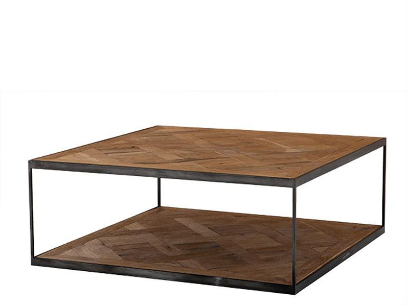 СтолЖурнальные столики<br>Журнальный столик из дуба, обработанного вручную. На ножках из цинкового металла.<br><br>Material: Дерево<br>Width см: 100<br>Depth см: 100<br>Height см: 38