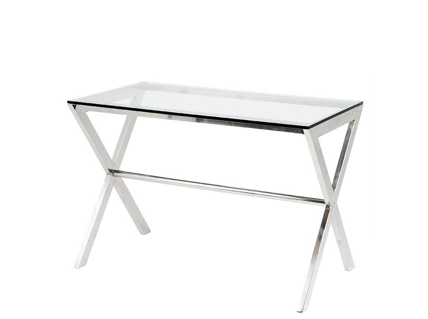СтолПисьменные столы<br>Письменный стол на основании из нержавеющей стали. Столешница выполнена из плотного прозрачного стекла.<br><br>Material: Стекло<br>Width см: 110<br>Depth см: 60<br>Height см: 75