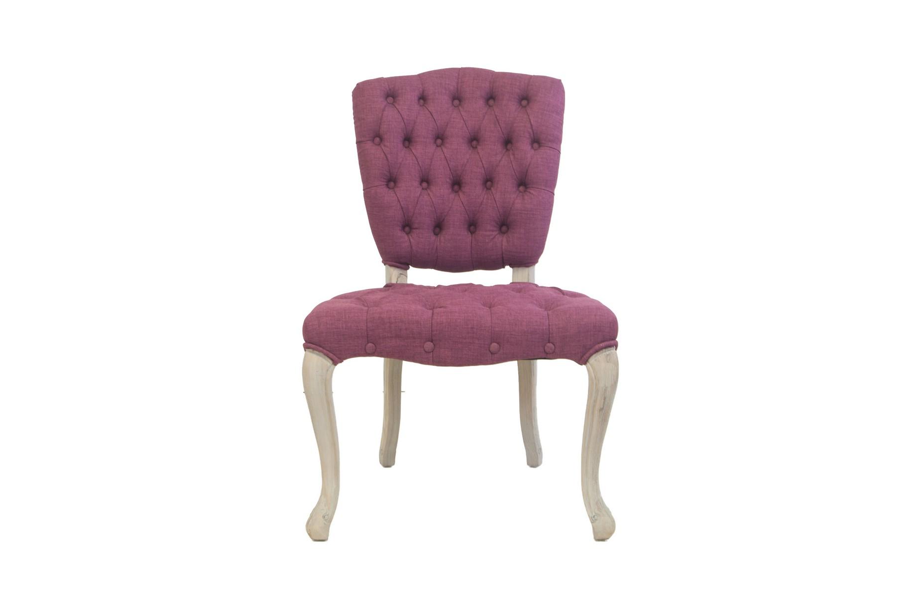 Стул Gamila violetОбеденные стулья<br>Классическая модель, дань уважения французским традициям. Эта модель так же удобна, как и элегантна. Спинка стула украшена декоративной стежкой. Каркас выполнен из массива дуба. Стул станет как прекрасным дополнением к туалетному столику, так и отлично будет смотреться в кухне-столовой.&amp;lt;div&amp;gt;&amp;lt;br&amp;gt;&amp;lt;/div&amp;gt;&amp;lt;div&amp;gt;Материалы: лен, массив дуба&amp;lt;/div&amp;gt;<br><br>Material: Дуб<br>Width см: 61<br>Depth см: 60<br>Height см: 100