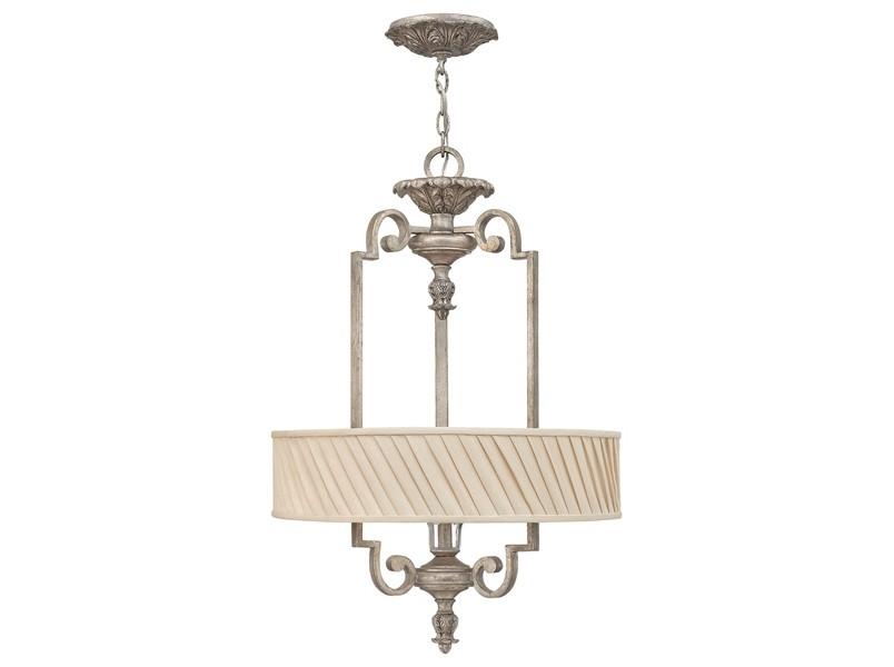 Подвесной светильник Hinkely LightingЛюстры подвесные<br>&amp;lt;div&amp;gt;Материалы: металл, ткань, стекло&amp;lt;/div&amp;gt;&amp;lt;div&amp;gt;Цвет: сусальное серебро&amp;lt;/div&amp;gt;&amp;lt;div&amp;gt;Высота регулируется от 76 до 390 см.&amp;lt;/div&amp;gt;&amp;lt;div&amp;gt;&amp;lt;div&amp;gt;Вид цоколя: Е27&amp;lt;/div&amp;gt;&amp;lt;div&amp;gt;Мощность лампы: 75W&amp;lt;/div&amp;gt;&amp;lt;div&amp;gt;Количество ламп: 3&amp;lt;/div&amp;gt;&amp;lt;div&amp;gt;Наличие ламп: нет&amp;lt;/div&amp;gt;&amp;lt;/div&amp;gt;&amp;lt;div&amp;gt;&amp;lt;br&amp;gt;&amp;lt;/div&amp;gt;&amp;lt;br&amp;gt;<br><br>Material: Металл<br>Высота см: 76
