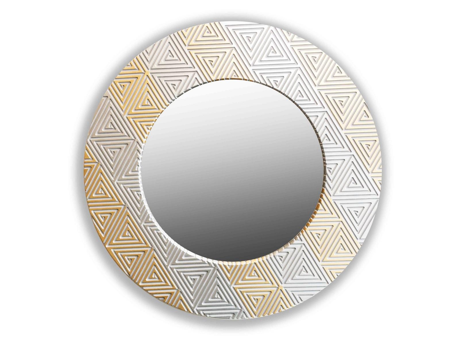 Зеркало PyramidНастенные зеркала<br>Данный вариант представлен в цвете серебро и золото.<br><br>Material: Дерево<br>Depth см: 4,2<br>Diameter см: 90