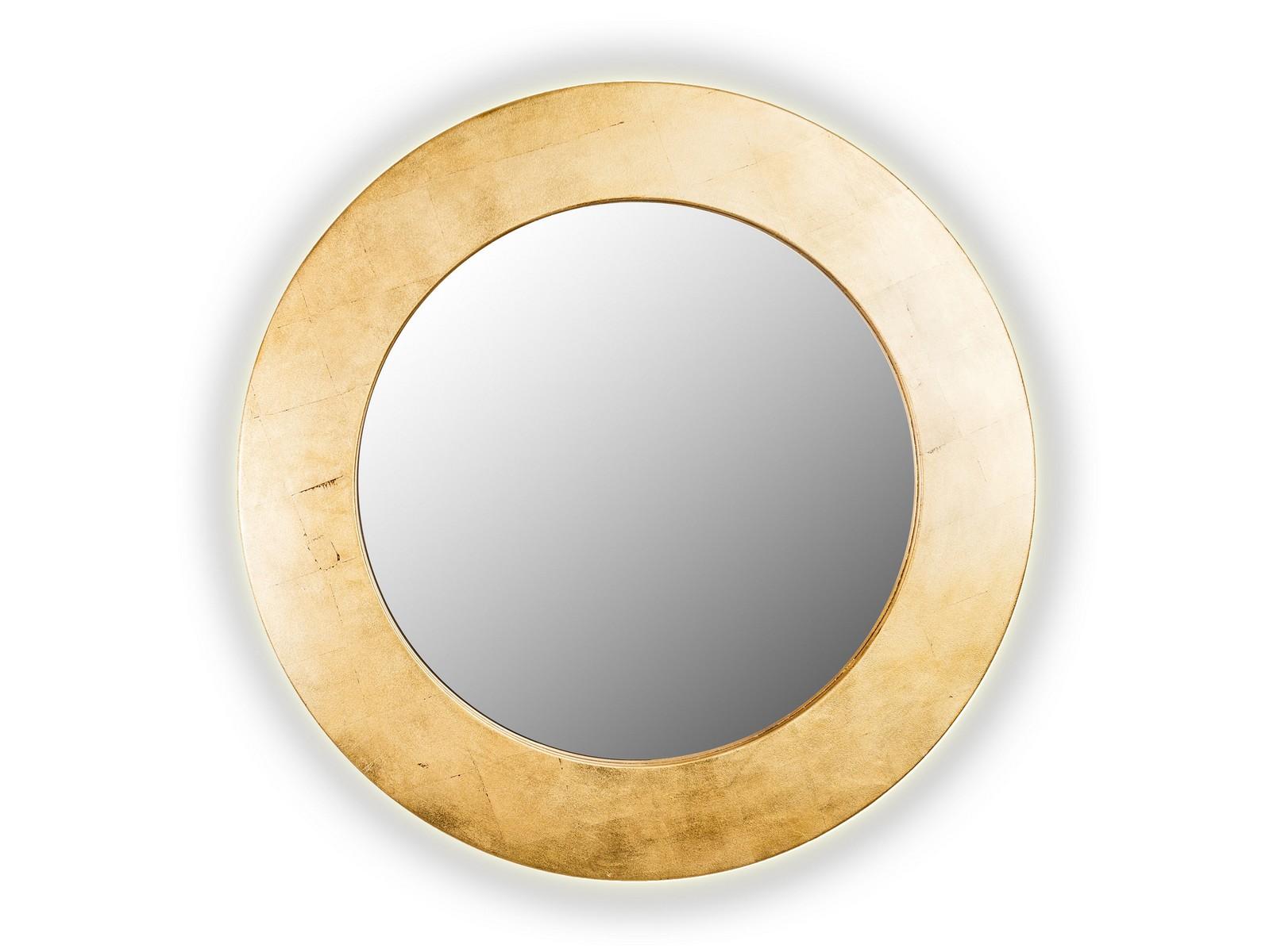 Зеркало PIECESНастенные зеркала<br>Данный вариант представлен в золотом цвете.<br><br>Material: Дерево<br>Глубина см: 4