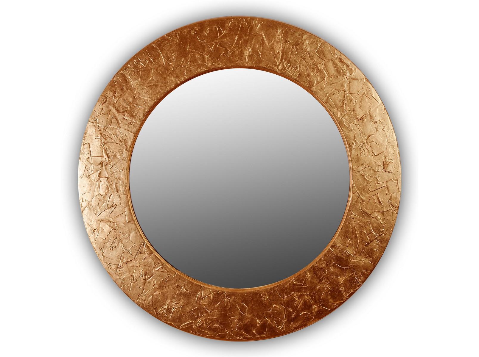 Зеркало FASHION STROKESНастенные зеркала<br>Данный вариант представлен в бронзовом цвете.<br><br>Material: Дерево<br>Depth см: 4,2<br>Diameter см: 90