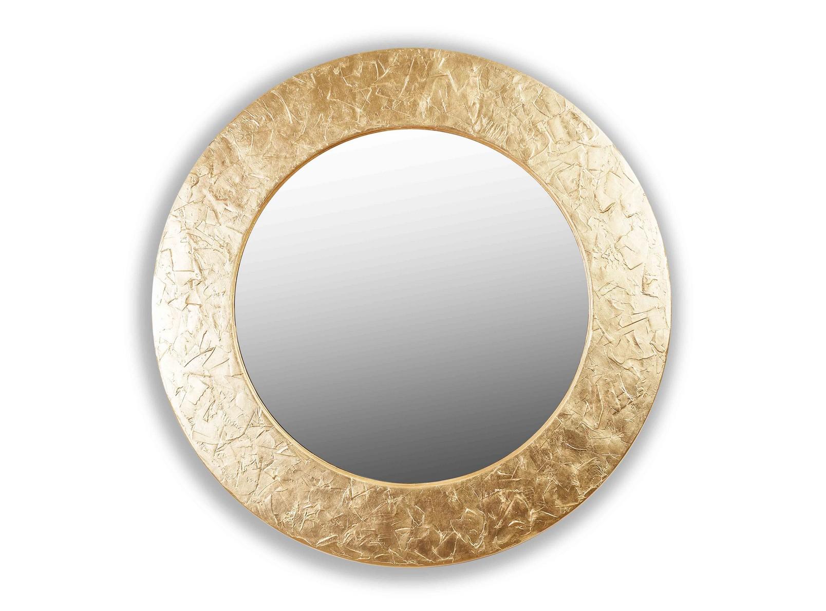 Зеркало FASHION STROKESНастенные зеркала<br>Данный вариант представлен в золотом цвете.<br><br>Material: Дерево<br>Depth см: 4,2<br>Diameter см: 90