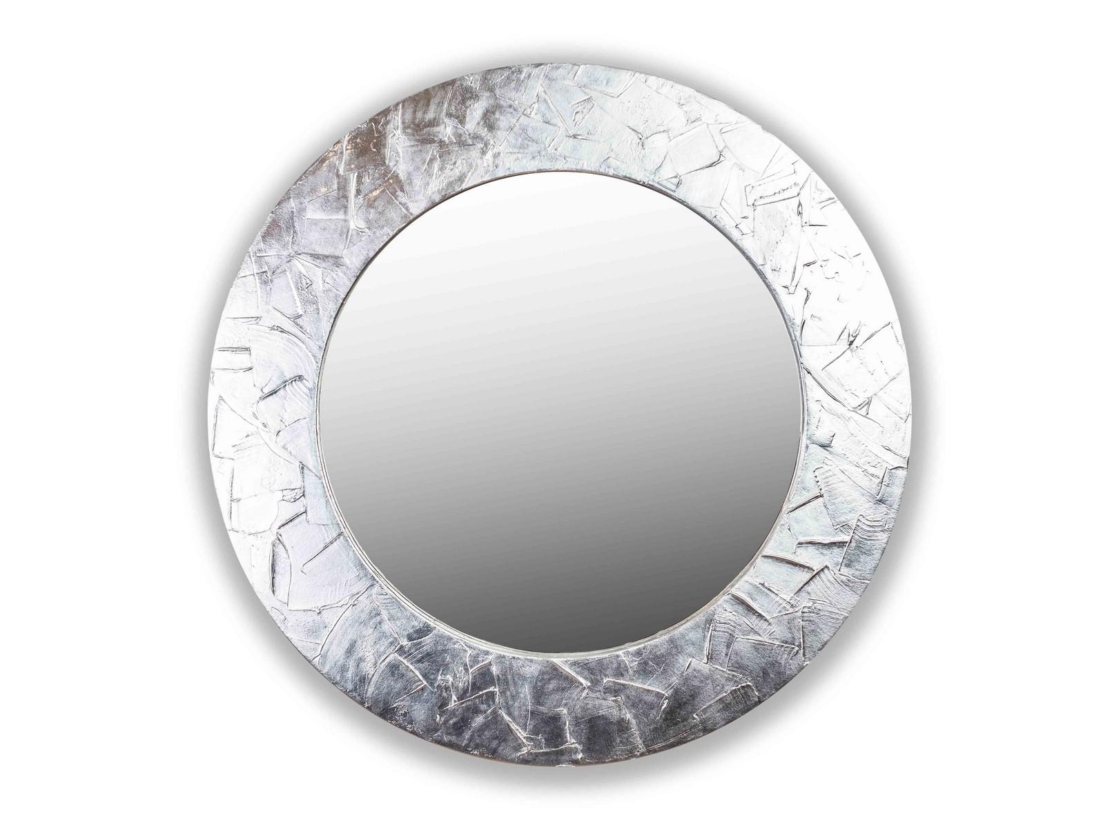 Зеркало FASHION STROKESНастенные зеркала<br>Данный вариант представлен в серебристом цвете.<br><br>Material: Дерево<br>Depth см: 4,2<br>Diameter см: 90