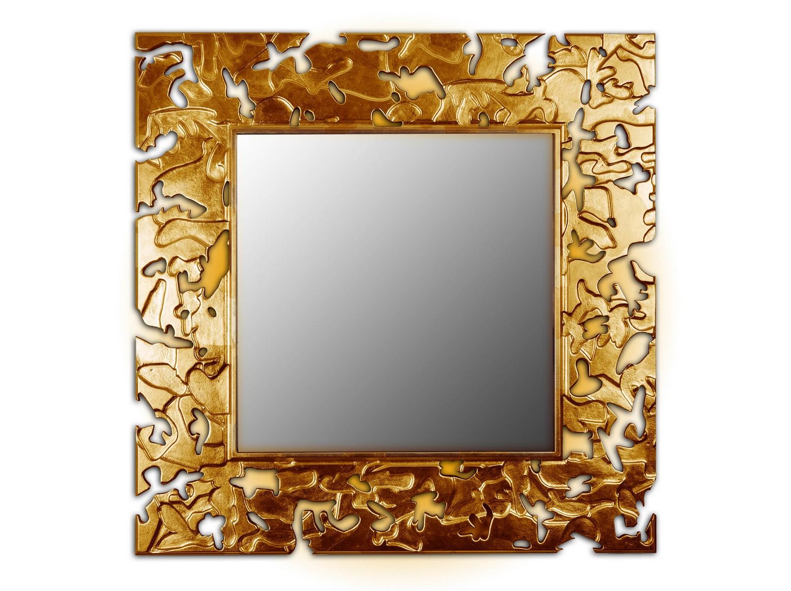 Зеркало CAMOUFLAGEНастенные зеркала<br>Данный вариант представлен в квадратной форме, цвет: бронза<br><br>Material: Дерево<br>Width см: 90<br>Depth см: 0,8<br>Height см: 90