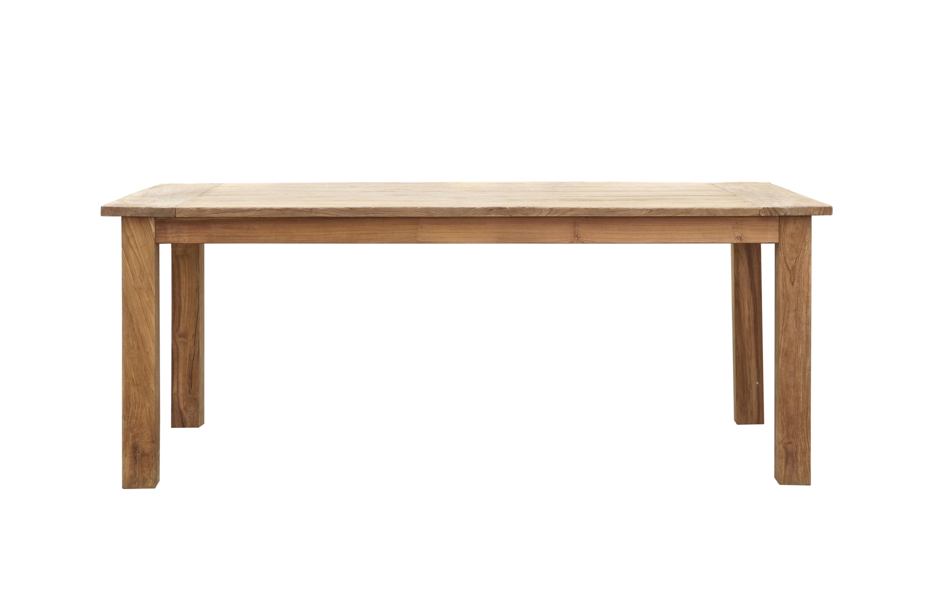 Стол TEAKОбеденные столы<br>Основательный обеденный стол изготовлен на 100% из массива тика. Требуется сборка<br><br>Material: Тик<br>Width см: 200<br>Depth см: 78<br>Height см: 100