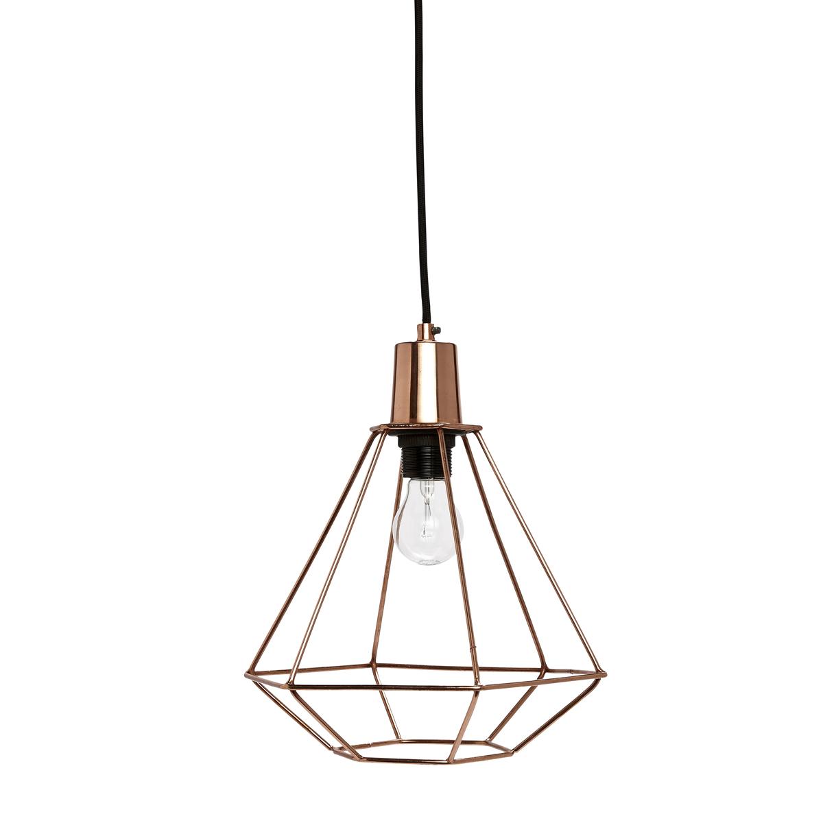 Светильник DIAMANTПодвесные светильники<br>Легкий, модный светильник из медной сетки. Особенно хорошо смотрится в группе. Сборка не требуется<br><br>Material: Металл<br>Height см: 35<br>Diameter см: 25