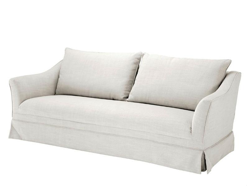 Диван MarlboroughТрехместные диваны<br>Диван обтянут тканью молочного цвета.<br><br>Material: Текстиль<br>Ширина см: 222<br>Высота см: 89<br>Глубина см: 108