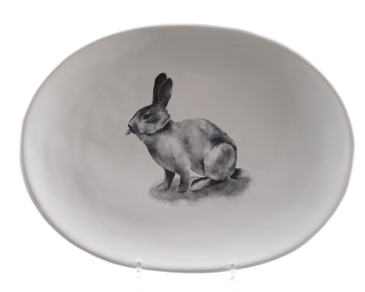 Сервировочное блюдо с кроликомТарелки<br>керамика, цвет белый<br><br>Material: Керамика<br>Length см: 35<br>Width см: 21<br>Depth см: None<br>Height см: 3