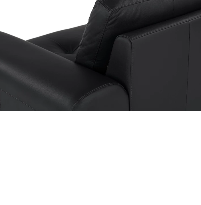 Диван угловой Vitto black leather от The Furnish