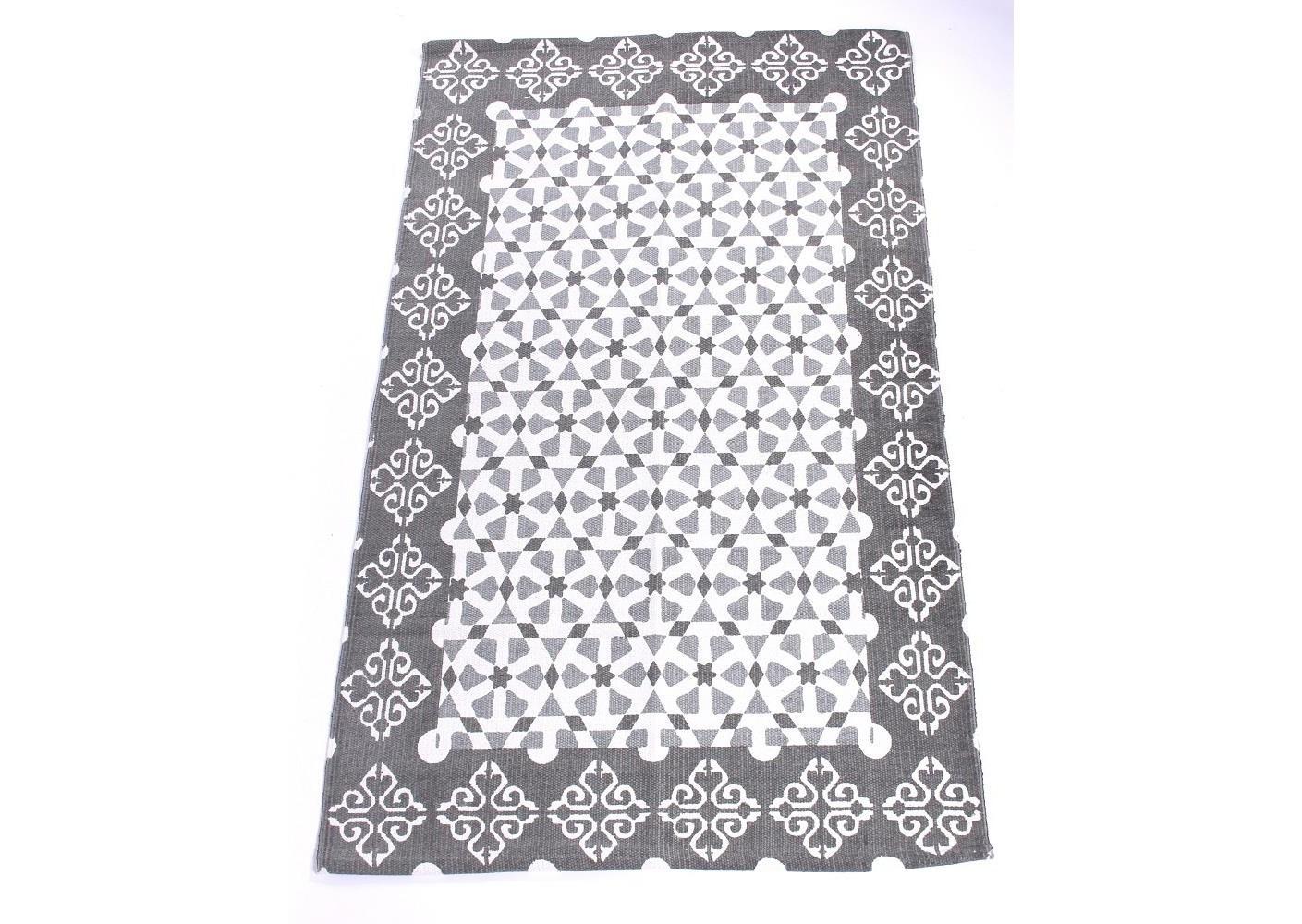 Хлопковый ковёр с серым узоромПрямоугольные ковры<br><br><br>Material: Хлопок<br>Width см: 90<br>Depth см: 2<br>Height см: 150