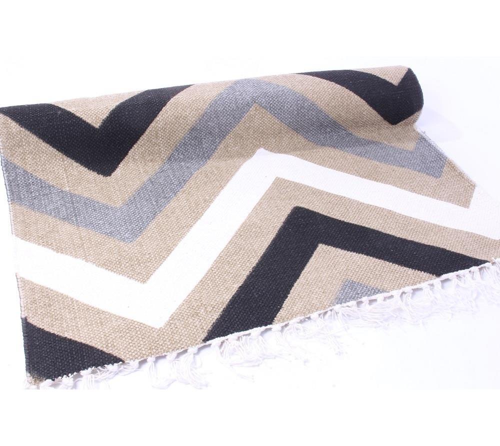 Хлопковый ковёр с зиг-загами