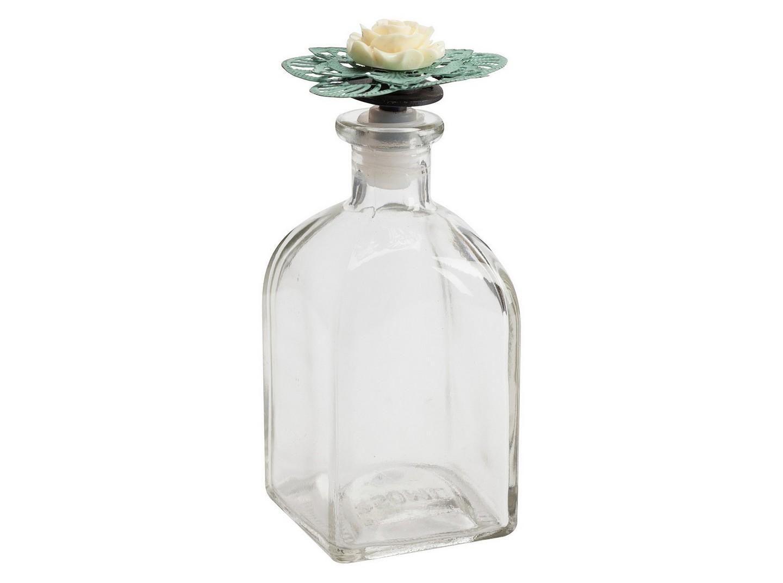 Декоративный флакон FleurЕмкости для хранения<br><br><br>Material: Стекло<br>Width см: 7<br>Depth см: 7<br>Height см: 15,5