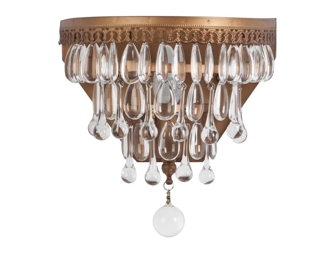 Настенный светильник EmperorБра<br>Настенный светильник с хрустальными подвесками, выполненный из металла, окрашенного под состаренное золото.&amp;lt;div&amp;gt;&amp;lt;br&amp;gt;&amp;lt;/div&amp;gt;&amp;lt;div&amp;gt;&amp;lt;div&amp;gt;Вид цоколя: Е14&amp;lt;/div&amp;gt;&amp;lt;div&amp;gt;Мощность лампы: 40W&amp;lt;/div&amp;gt;&amp;lt;div&amp;gt;Количество ламп: 1&amp;lt;/div&amp;gt;&amp;lt;div&amp;gt;Наличие ламп: нет&amp;lt;/div&amp;gt;&amp;lt;/div&amp;gt;<br><br>Material: Металл<br>Width см: 25<br>Depth см: 25<br>Height см: 35