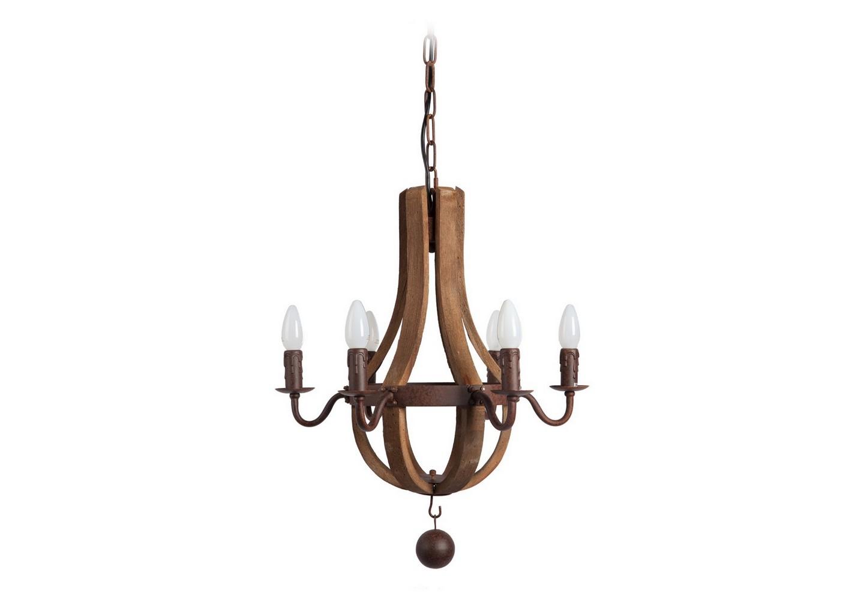 Люстра Terracotta Designs ElenaЛюстры подвесные<br>Люстра будет гармонично смотреться в помещениях в стиле винтаж, лофт, скандинавский, модерн и т.д. Она сделана из коричневого дерева и металла, окрашенного коричневой краской под старинную бронзу. Для установки ламп предусмотрены также коричневые патроны, выполненные в виде восковых свечей.<br>В этой люстре потрясающе сочетаются простота и оригинальность!&amp;lt;div&amp;gt;&amp;lt;br&amp;gt;&amp;lt;/div&amp;gt;&amp;lt;div&amp;gt;&amp;lt;div&amp;gt;Вид цоколя: Е14&amp;lt;/div&amp;gt;&amp;lt;div&amp;gt;Мощность лампы: 40W&amp;lt;/div&amp;gt;&amp;lt;div&amp;gt;Количество ламп: 6&amp;lt;/div&amp;gt;&amp;lt;div&amp;gt;Наличие ламп: нет&amp;lt;/div&amp;gt;&amp;lt;/div&amp;gt;<br><br>Material: Металл<br>Height см: 59<br>Diameter см: 45