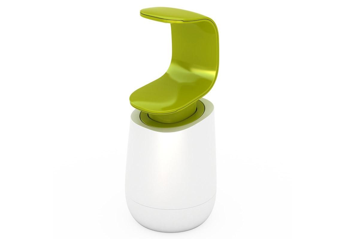 Диспенсер для мыла C-pumpАксессуары для ванной<br>Уникальный дизайн этого диспенсера позволяет нажимать на помпу тыльной стороной ладони, таким образом, ёмкость всегда остается в чистоте и не пачкается от грязных или намыленных рук. Чтобы налить на ладонь нужное количество мыла, следует подставить руку под С-образный дозатор и надавить на его нижнюю часть.<br>Диспенсер оснащён нескользящим основанием и прозрачным индикатором уровня мыла. Легко наполнять и очищать. Подходит для всех видов жидкого мыла.<br>Рекомендуется мыть вручную.&amp;amp;nbsp;&amp;lt;div&amp;gt;&amp;lt;br&amp;gt;&amp;lt;/div&amp;gt;&amp;lt;div&amp;gt;&amp;lt;iframe width=&amp;quot;530&amp;quot; height=&amp;quot;315&amp;quot; src=&amp;quot;https://www.youtube.com/embed/afJKPGjWM94&amp;quot; frameborder=&amp;quot;0&amp;quot; allowfullscreen=&amp;quot;&amp;quot;&amp;gt;&amp;lt;/iframe&amp;gt;&amp;lt;/div&amp;gt;<br><br>Material: Пластик<br>Высота см: 19
