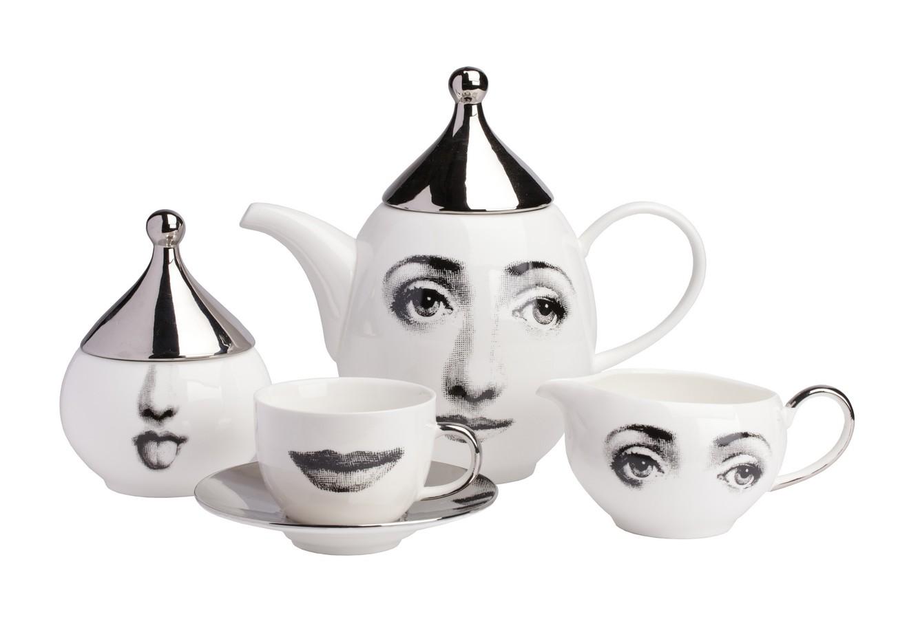 """Чайный сервиз """"Пьеро Форназетти Faces Silver"""""""