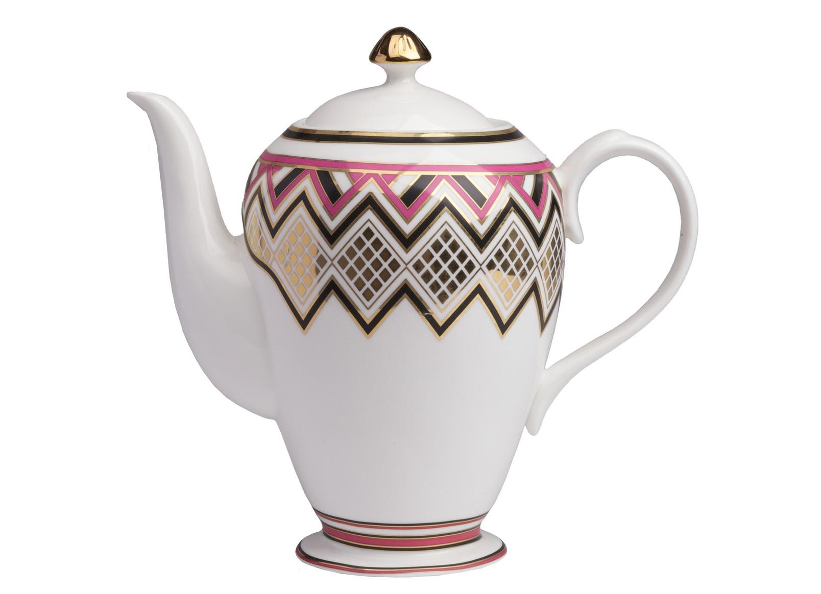 Заварной чайник ExoticЧайники<br>Заварной чайник Exotic  выполнен из керамики.  Декором служит яркое  изображение геометрического орнамента.<br><br>Material: Керамика<br>Width см: 34<br>Depth см: 15,7<br>Height см: 28