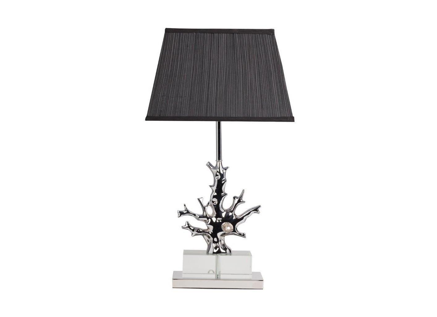 Настольная лампа Fabriano NoirДекоративные лампы<br>Большая настольная лампа Fabriano Noir изготовлена на стальном основании, корпус декорирован хрусталем и гофрированным абажуром из чёрной ткани. Лампа прекрасно дополнит любой интерьер и создаст особую приятную расслабляющую обстановку. Предназначена для использования со светодиодными лампами. Размеры основания: длина 35 см, ширина 28 см.&amp;lt;div&amp;gt;&amp;lt;br&amp;gt;&amp;lt;/div&amp;gt;&amp;lt;div&amp;gt;&amp;lt;div&amp;gt;Вид цоколя:E27&amp;lt;/div&amp;gt;&amp;lt;div&amp;gt;Мощность лампы:60W&amp;lt;/div&amp;gt;&amp;lt;div&amp;gt;Количество ламп:1&amp;lt;/div&amp;gt;&amp;lt;/div&amp;gt;<br><br>Material: Металл<br>Width см: 38<br>Depth см: 25<br>Height см: 68<br>Diameter см: None